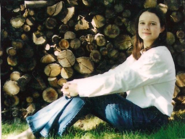 senior photo woodpile