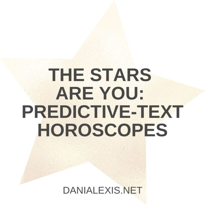 predictive horoscopes