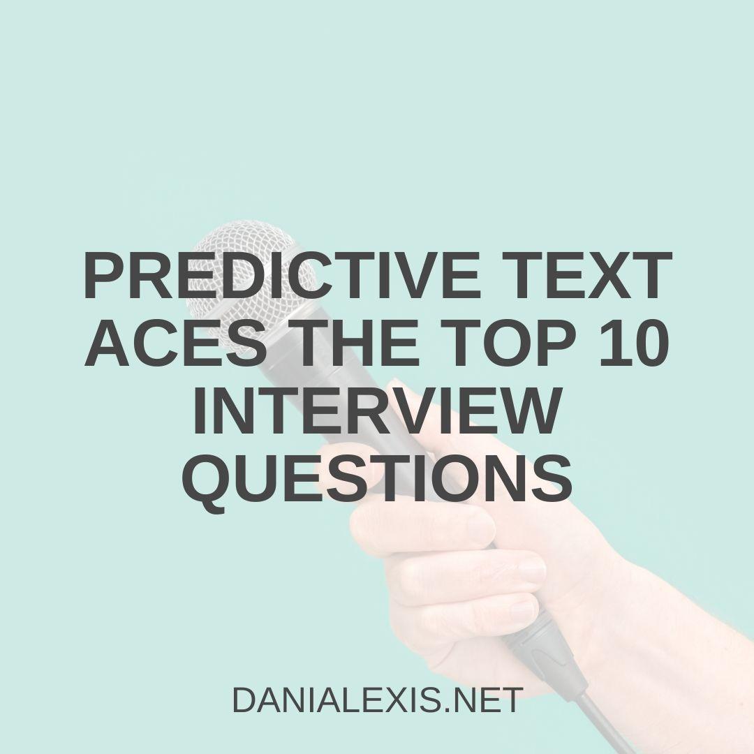 predictive interview